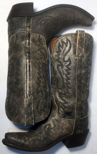 Lucchese Cowgirl 7 Women Size 7 Size 7 Black Boots Image 4