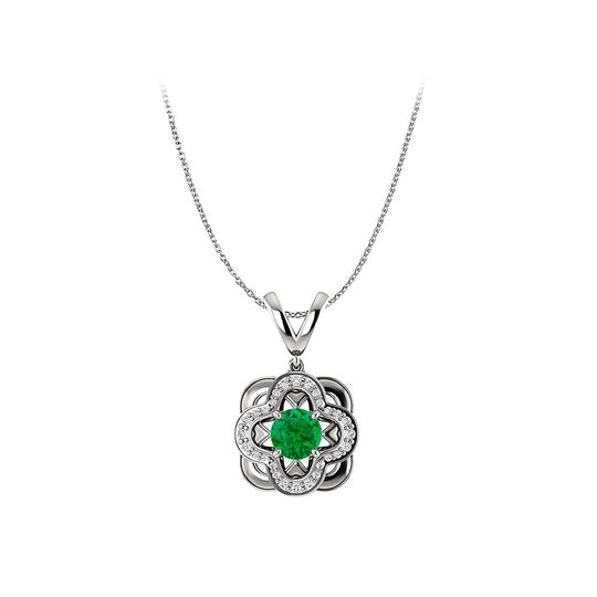 Preload https://img-static.tradesy.com/item/22530601/green-silver-emerald-and-cubic-zirconia-accented-artistic-pendant-necklace-0-0-540-540.jpg
