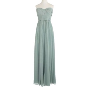 J.Crew Dusty Shale Crinkle Silk Chiffon Marbella Formal Bridesmaid/Mob Dress Size 2 (XS)