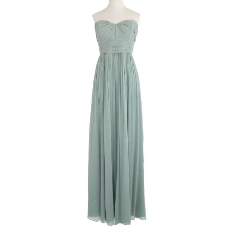 J.Crew Dusty Shale Crinkle Silk Chiffon Marbella Formal Bridesmaid ...