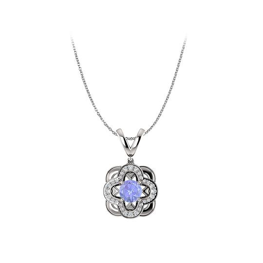 Preload https://img-static.tradesy.com/item/22530638/blue-silver-newest-tanzanite-and-cubic-zirconia-artistic-pendant-necklace-0-0-540-540.jpg