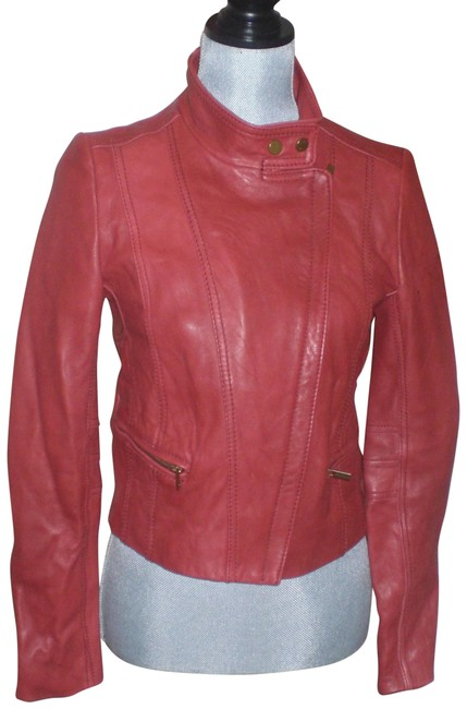 Item - Red Leather Jacket Size 8 (M)