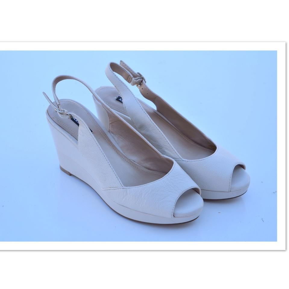 Alex Marie Cream Peep Toe Wedges Sling Back Wedges Toe fbbf40