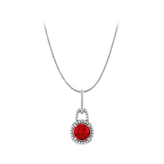 Preload https://img-static.tradesy.com/item/22530919/red-silver-lovable-ruby-and-cz-halo-pendant-in-925-necklace-0-0-540-540.jpg