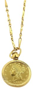 Other 21K Gold Modern Flower Prize Jewelry Coin & 21k Necklace