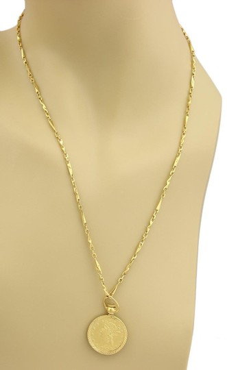 Other 21K Gold Modern Flower Prize Jewelry Coin & 21k Necklace Image 1