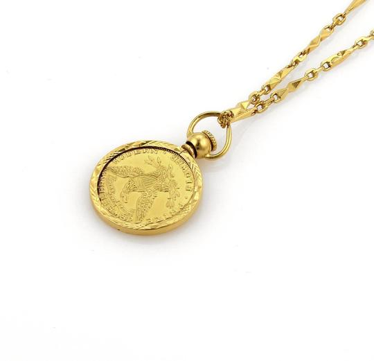 Other 21K Gold Modern Flower Prize Jewelry Coin & 21k Necklace Image 5