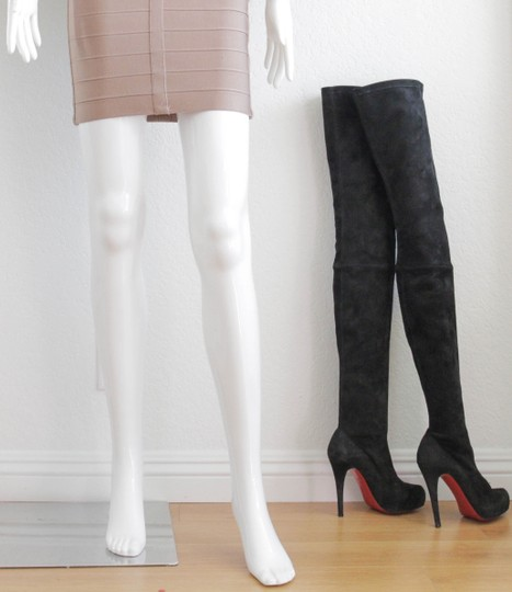 Christian Louboutin Thigh High Over The Knee Black Boots Image 10