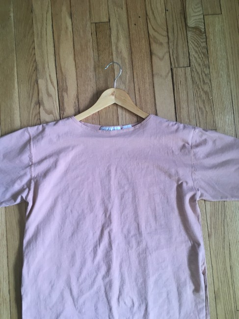 Chaus Cotton Stretchy Boat Neck 3/4 Sleeve Knit T Shirt Pink, Peach Image 2