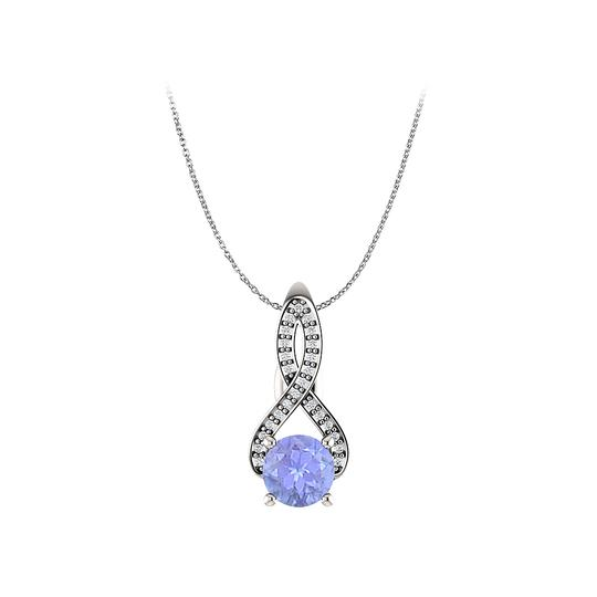 Preload https://img-static.tradesy.com/item/22531040/blue-silver-tanzanite-and-cz-infinity-style-pendant-in-925-necklace-0-0-540-540.jpg