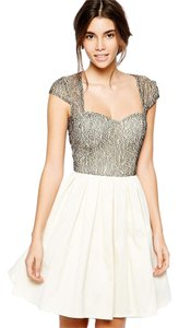 Modcloth Lace Sweetheart Cream Sparkle Dress