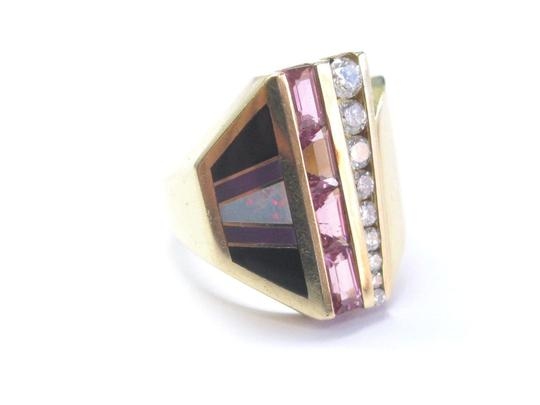 Preload https://img-static.tradesy.com/item/22531097/pink-fine-tourmaline-opal-onyx-and-diamond-yellow-gold-14kt-95ct-ring-0-0-540-540.jpg