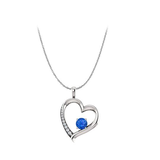 Preload https://img-static.tradesy.com/item/22531153/blue-silver-round-sapphire-cubic-zirconia-open-heart-pendant-necklace-0-0-540-540.jpg