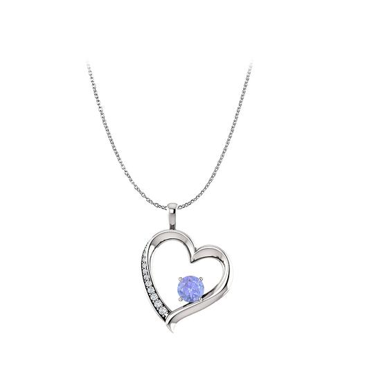 Preload https://img-static.tradesy.com/item/22531169/blue-silver-tanzanite-and-cubic-zirconia-open-heart-pendant-0-0-540-540.jpg