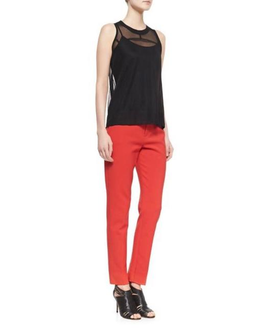 Item - Red Marianne Slim Flat Trouser Pants Size 4 (S, 27)