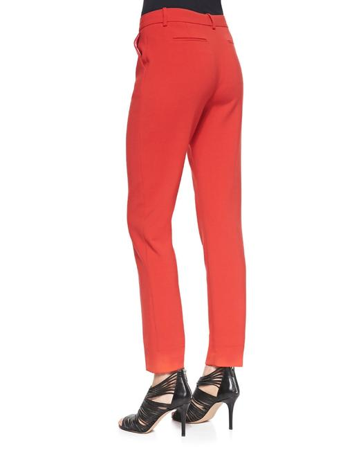 J Brand Slim Flat Leg Cuffed Straight Pants Red Image 1