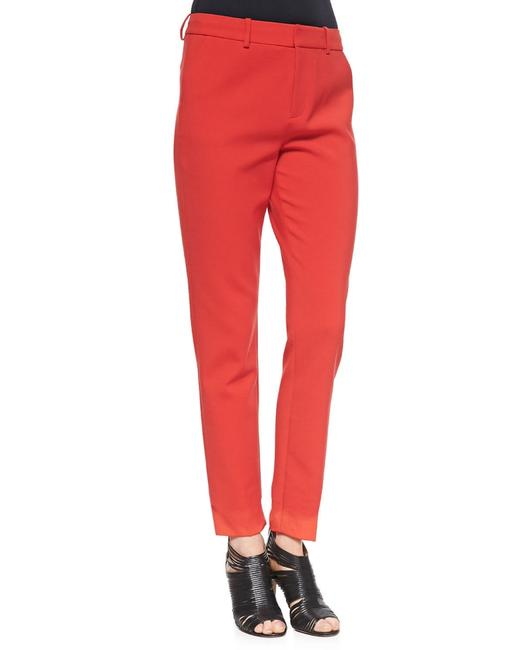 J Brand Slim Flat Leg Cuffed Straight Pants Red Image 2