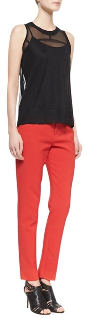 Item - Red Marianne Slim Flat Trouser Pants Size 6 (S, 28)
