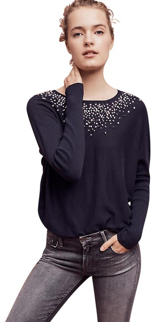 Preload https://img-static.tradesy.com/item/22531293/anthropologie-knotted-confetti-navy-sweater-0-2-650-650.jpg