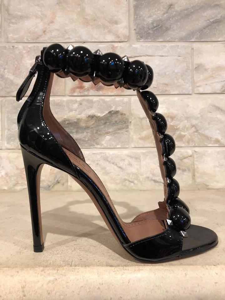 6607366fdde4 ALAA Bombe Stiletto Patent Studded black Pumps Image 11. 123456789101112