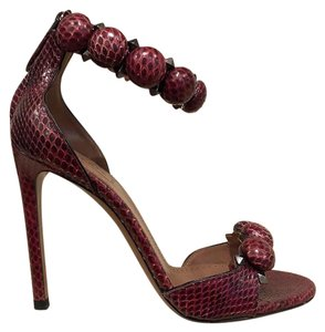 ALAÏA Bombe Stiletto Snakeskin Sandal red Pumps