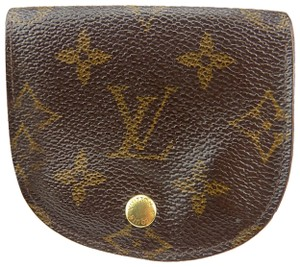Louis Vuitton Louis Vuitton Monogram Porte Monnaie Gousset Coin Case PVC Brown