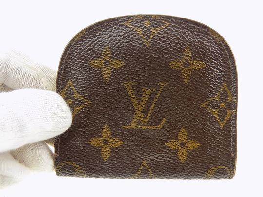 Louis Vuitton Louis Vuitton Monogram Porte Monnaie Gousset Coin Case PVC Brown Image 1