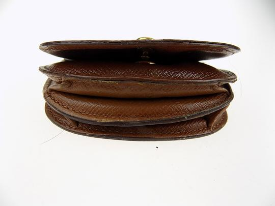 Louis Vuitton Louis Vuitton Monogram Porte Monnaie Gousset Coin Case PVC Brown Image 5