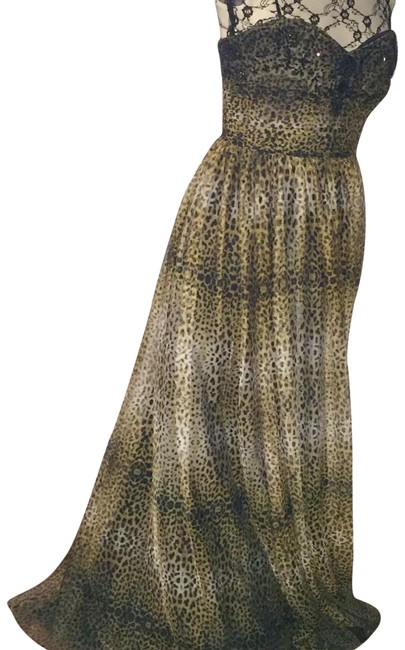 Preload https://img-static.tradesy.com/item/22531447/adrianna-papell-black-brown-tan-animal-print-for-e-live-from-the-red-carpet-gown-long-formal-dress-s-0-2-650-650.jpg