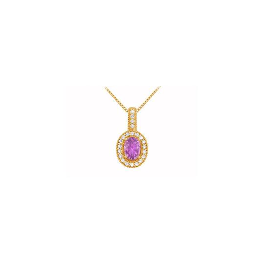 Preload https://img-static.tradesy.com/item/22531490/purple-yellow-fancy-oval-amethyst-and-cubic-zirconia-halo-pendant-in-gold-vermei-sil-necklace-0-0-540-540.jpg