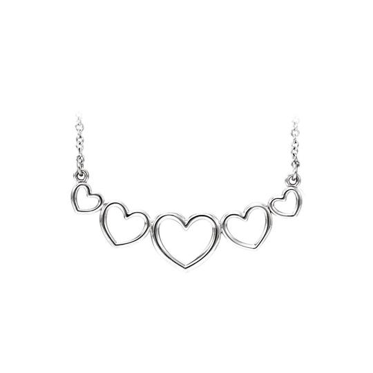 Preload https://img-static.tradesy.com/item/22531497/white-14k-gold-graduated-heart-for-valentine-necklace-0-0-540-540.jpg
