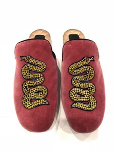 Gucci Lawrence Princetown Slide Loafer red Flats