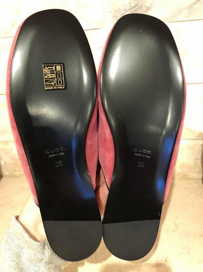 Gucci Lawrence Princetown Slide Loafer red Flats Image 11