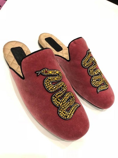 Gucci Lawrence Princetown Slide Loafer red Flats Image 4