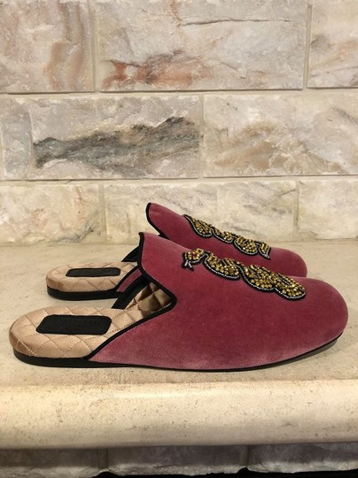 Gucci Lawrence Princetown Slide Loafer red Flats Image 5
