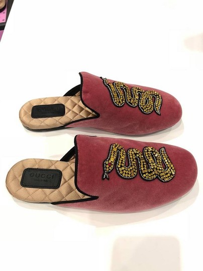 Gucci Lawrence Princetown Slide Loafer red Flats Image 7
