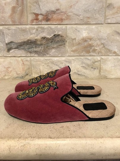 Gucci Lawrence Princetown Slide Loafer red Flats Image 9