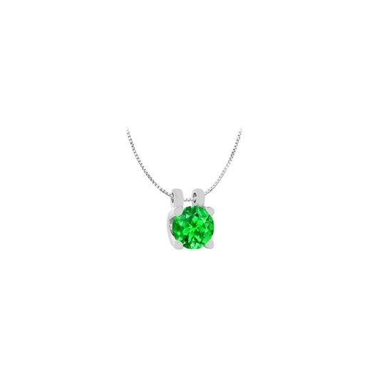 Preload https://img-static.tradesy.com/item/22531508/green-white-gold-14k-round-frosted-emerald-solitaire-pendant-with-1-carat-to-necklace-0-0-540-540.jpg