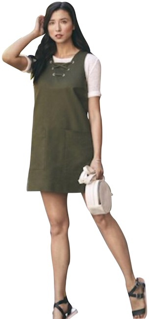 Preload https://img-static.tradesy.com/item/22531511/w3-by-who-what-wear-olive-green-up-utility-short-casual-dress-size-6-s-0-1-650-650.jpg