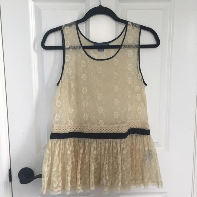 Anthropologie Top cream/black Image 1