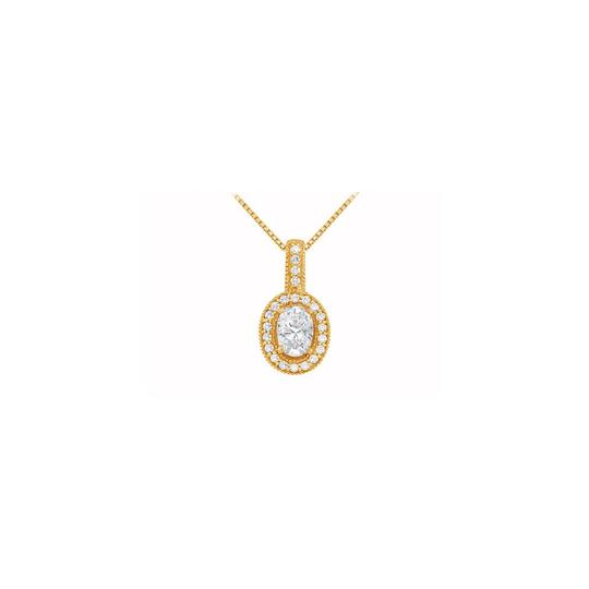 Preload https://img-static.tradesy.com/item/22531661/white-yellow-fancy-oval-cubic-zirconia-halo-pendant-in-gold-vermei-silver-125-ct-t-necklace-0-0-540-540.jpg