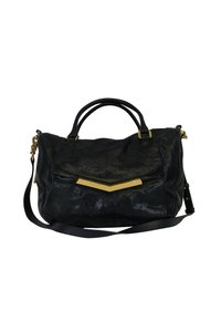 Botkier Leather Zippers Satchel in Black