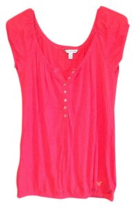 American Eagle Outfitters T Shirt Dark Pink/Orange