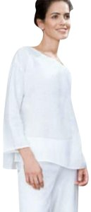 Eileen Fisher Breathable Staple Piece Top NWT White