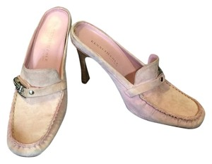 Kenneth Cole Pink Suede Mules