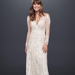 Melissa Sweet Ivory Lace Vintage Wedding Dress Size 10 (M)