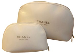 Chanel SALE!!!!! Chanel Cosmetic Bags, Set of Two. White