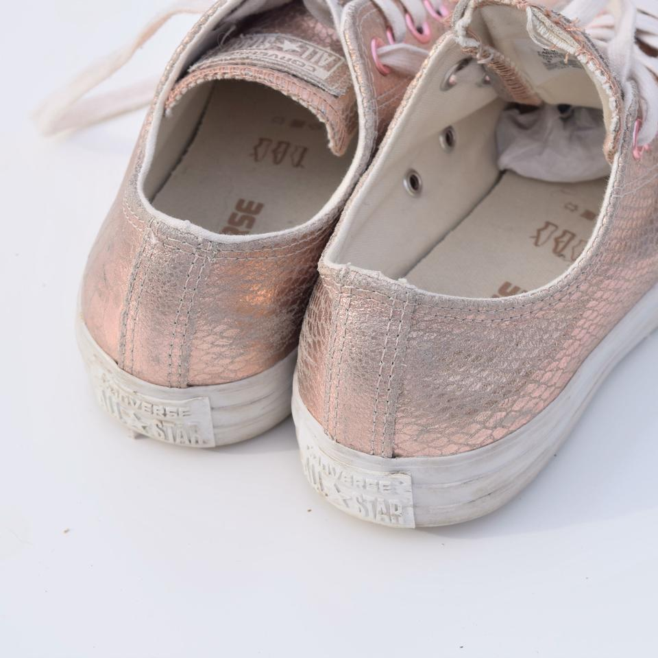 23bce91f37d Converse Pale Pink Leather Embossed Sneakers Size US 8 Regular (M
