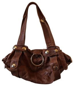Gustto Leather Handbag Satchel in Brown