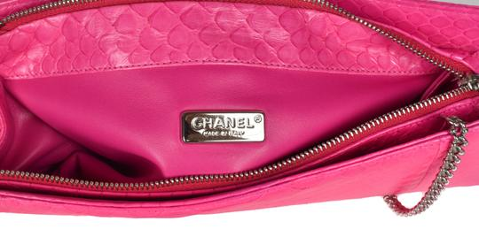 Chanel Leather Snakeskin Shoulder Bag
